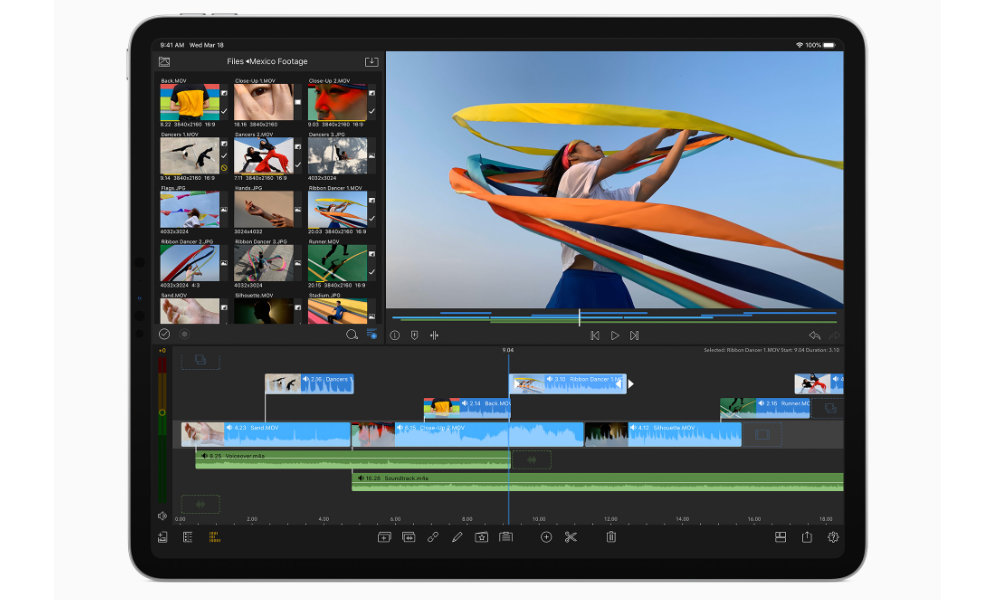 iPad Pro 2020 A12Z video editing