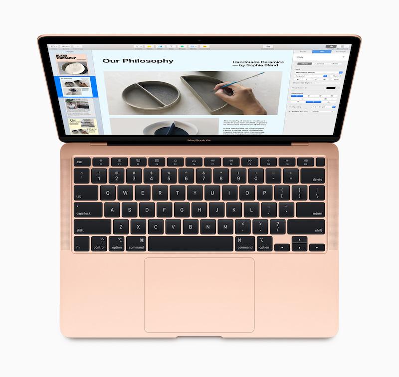 Apple new macbook air new magic keyboard 03182020
