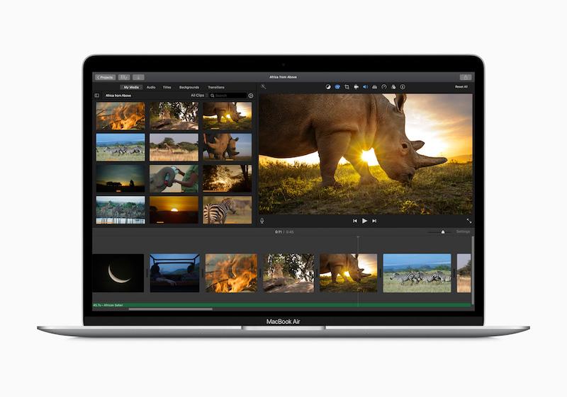 Apple new macbook air performance 03182020
