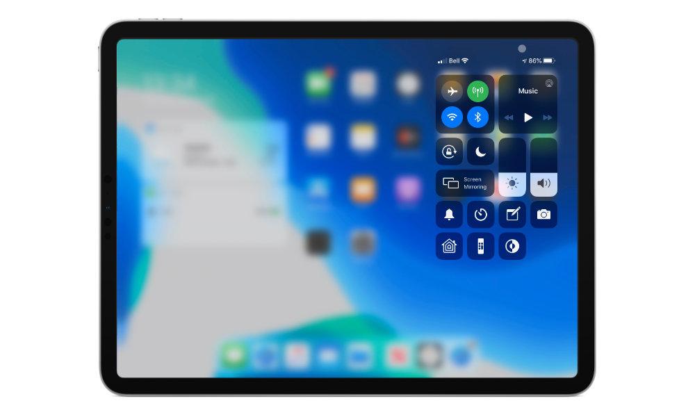 iPadOS 13.4 mouse control center
