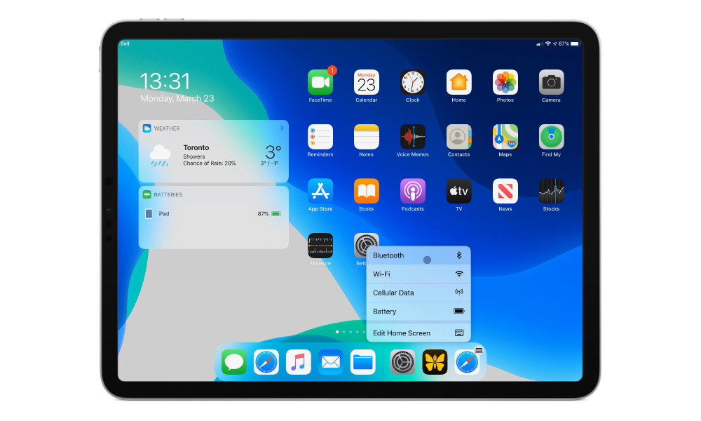 iPadOS 13.4 mouse right click