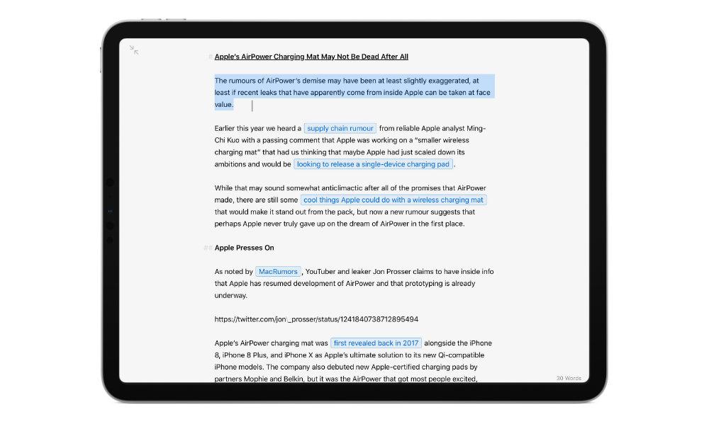 iPadOS 13.4 mouse text editing cursor