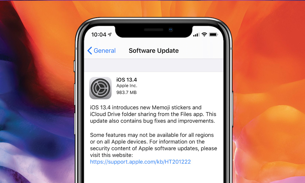 whats new in ios 13 4