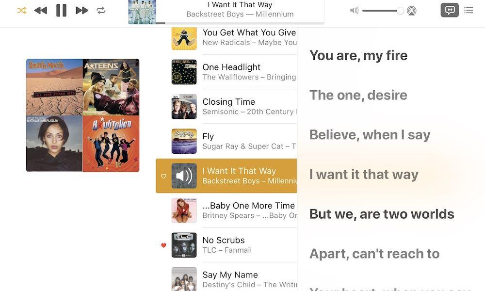 iTunes Synced Lyrics