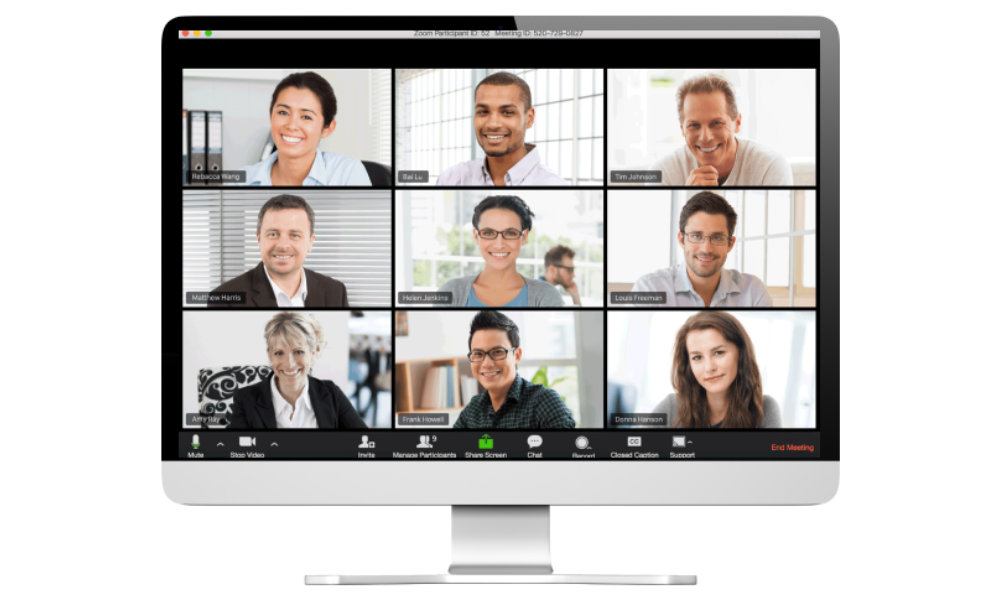 Zoom large group video chat