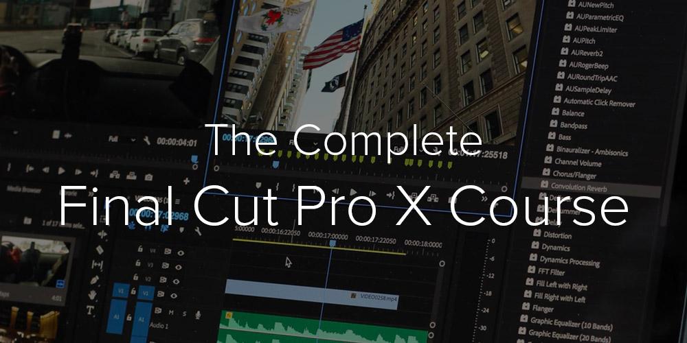 iDrop News Video Editing with Final Cut Pro X