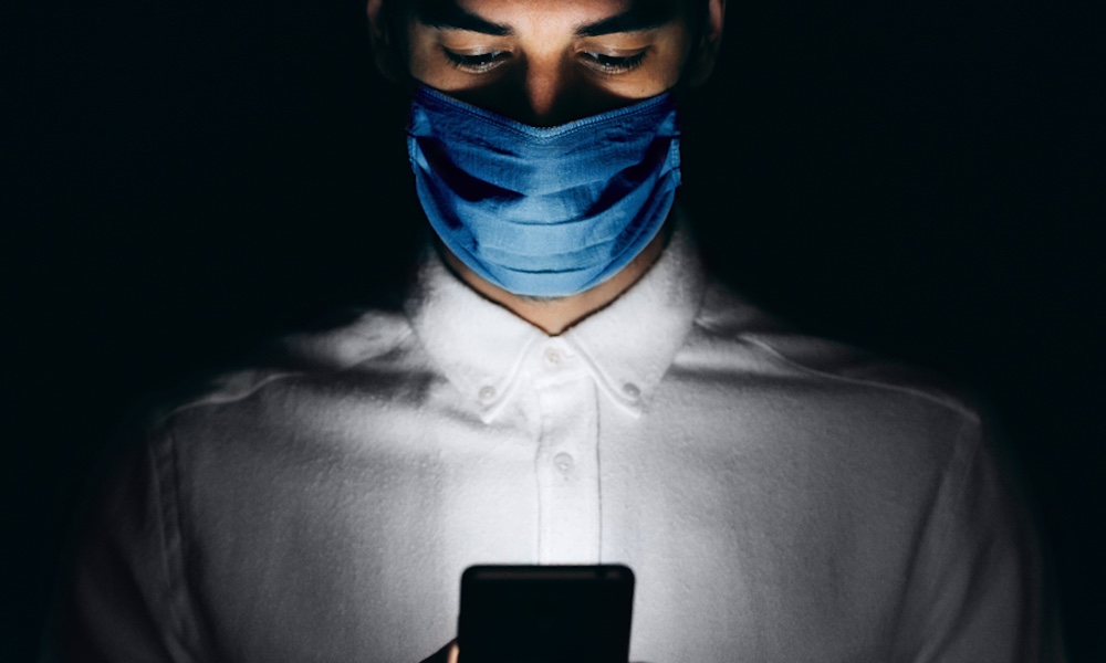 How long does coronavirus live on an iPhone?