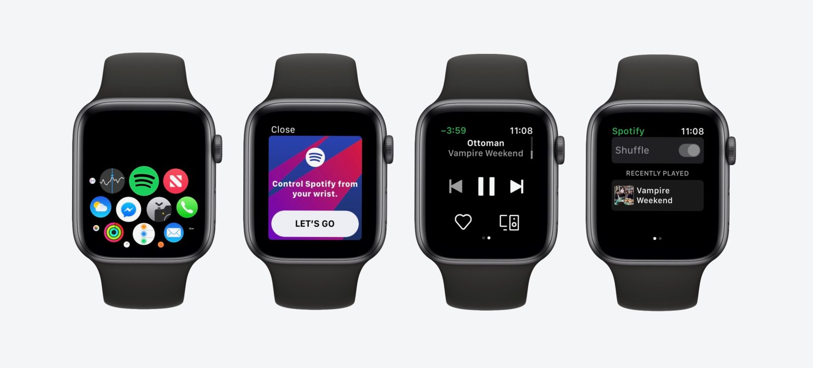 how to get apple watch spotify app