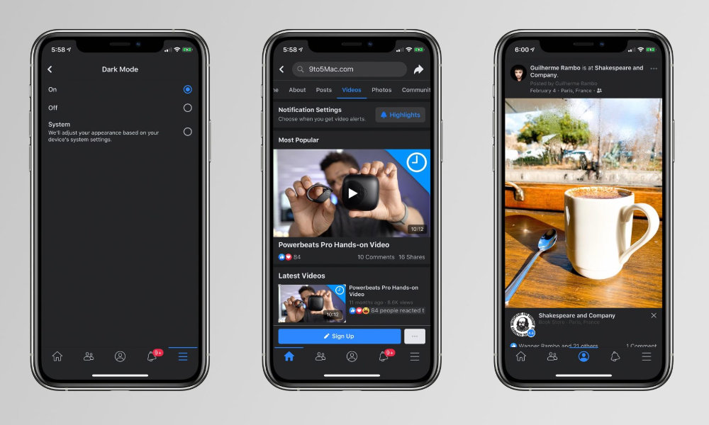 Dark Mode is (Finally) Coming to Facebook on Your iPhone