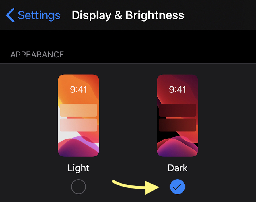 Turn on Dark Mode