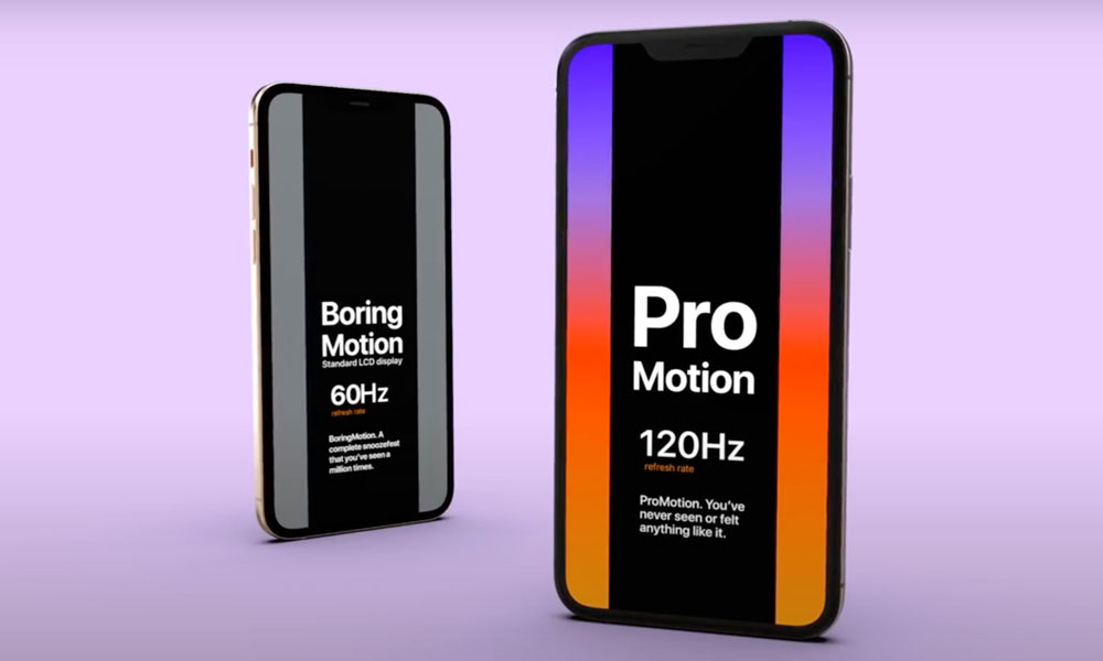 iPhone 12 120Hz ProMotion Display