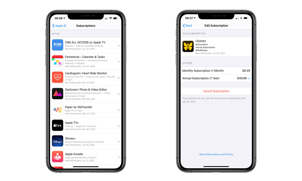 Managing App Store Subscriptions on iPhone
