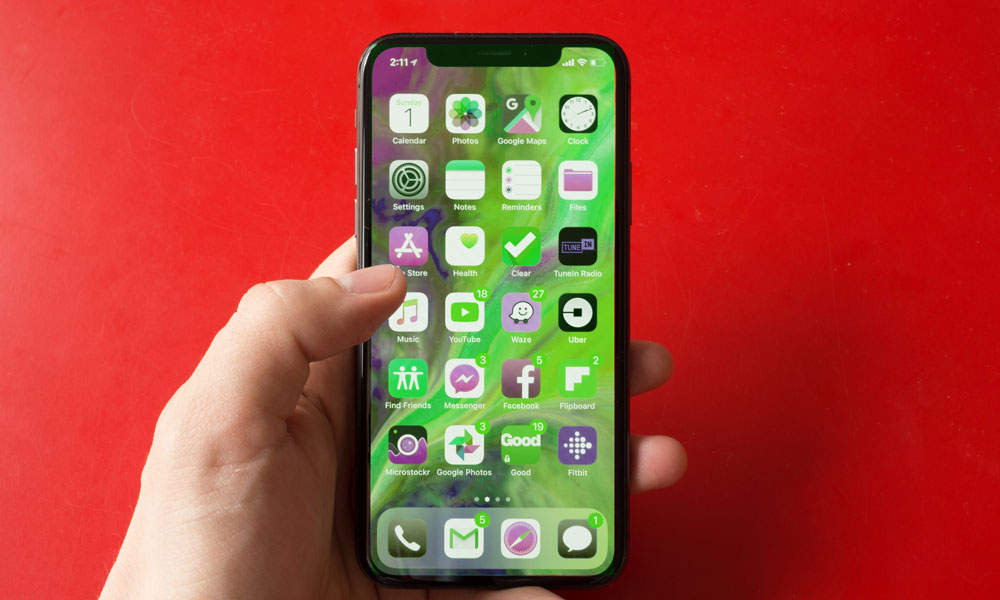 iPhone with Green Screen