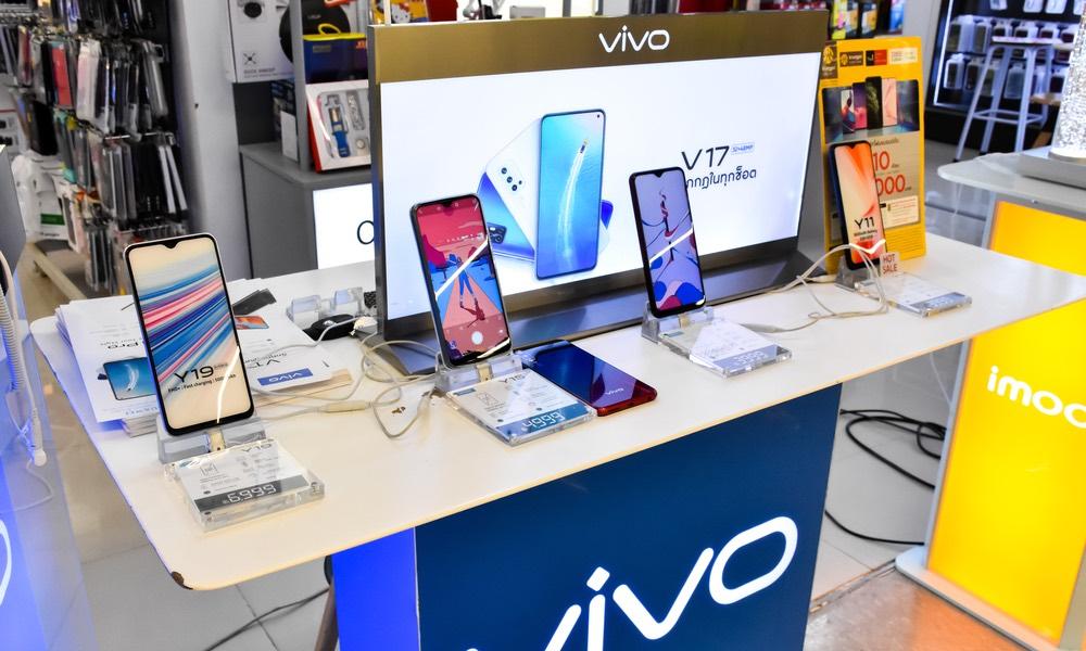 Vivo Smartphones on Display