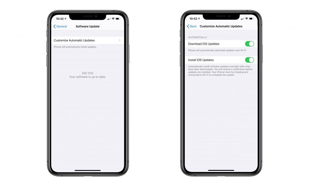 iOS 13.6 Auto Update Controls