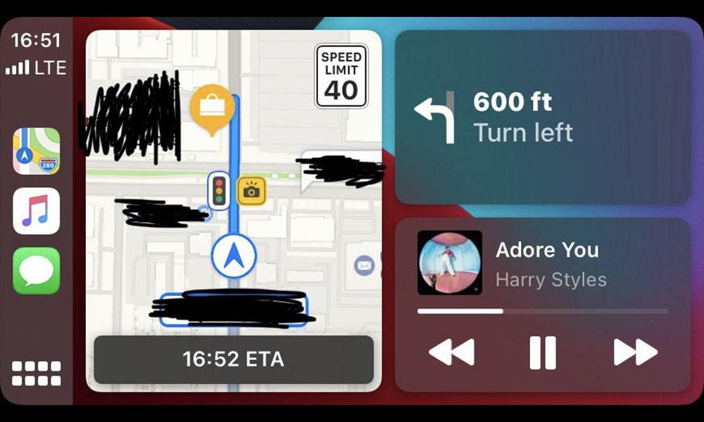 iOS 14 CarPlay Maps Traffic Cameras