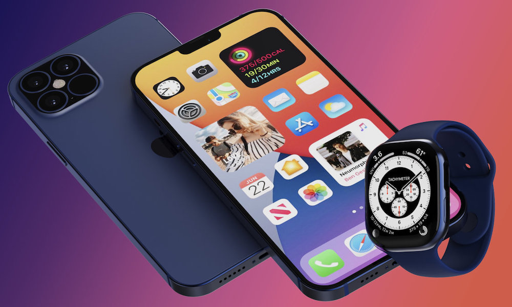 iPhone 12 Pro Apple Watch Concept Image