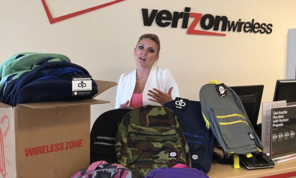 Free Backpacks Verizon Wireless Zone
