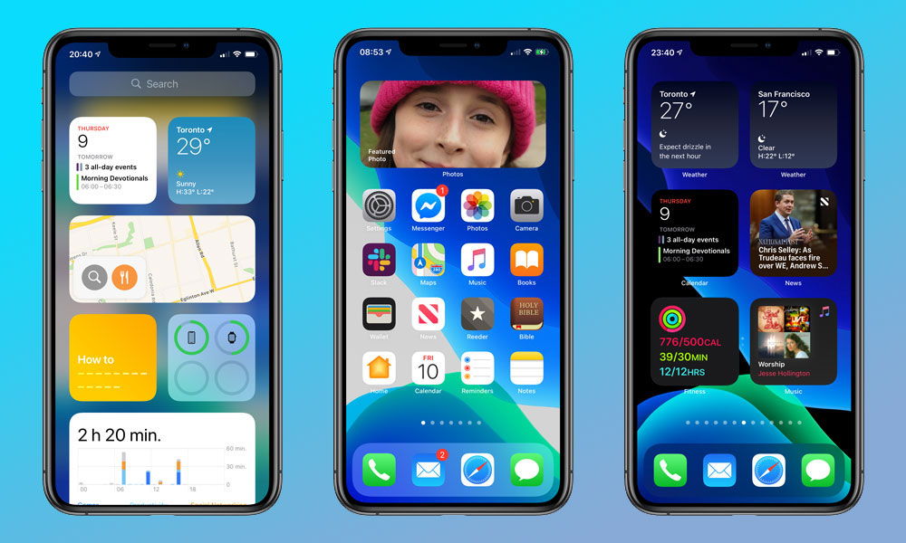 iOS 14 Widgets on iPhone