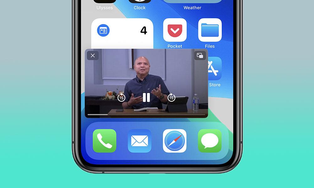 iOS 14 PiP on iPhone