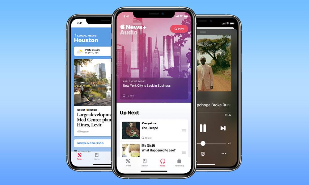 Apple News Plus in iOS 13.6