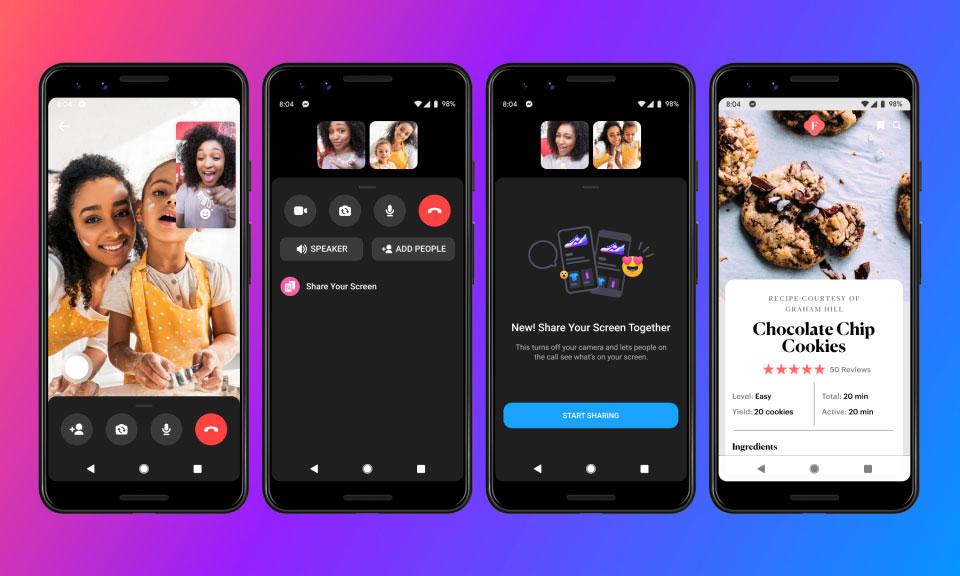 Facebook Messenger Screen Sharing Flow