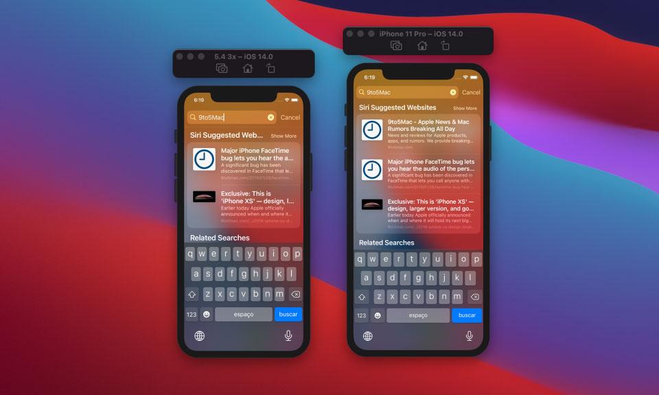 iOS 14 5.4-inch iPhone UI