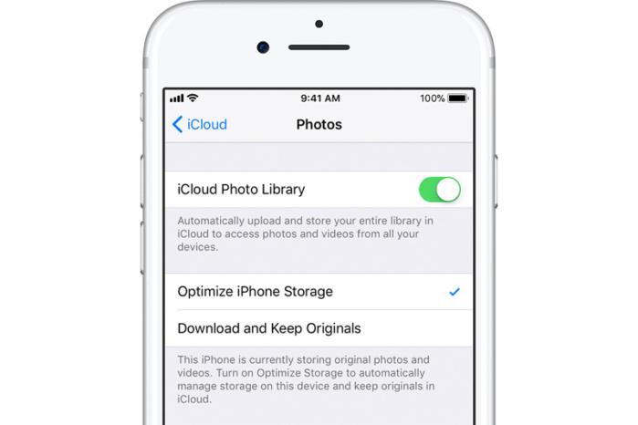 iCloud Photos Optimize Library