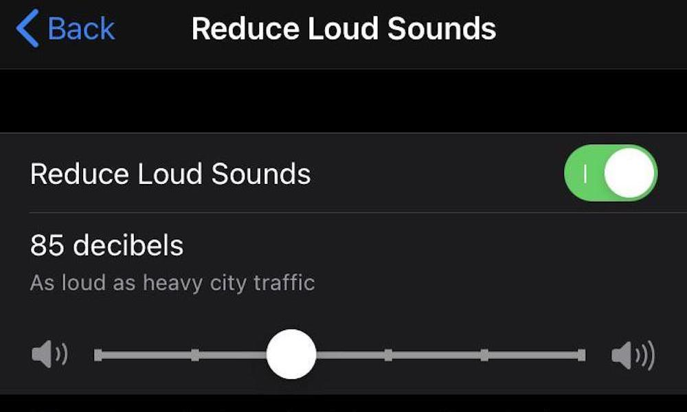 iOS 14 Reduce Loud Sounds