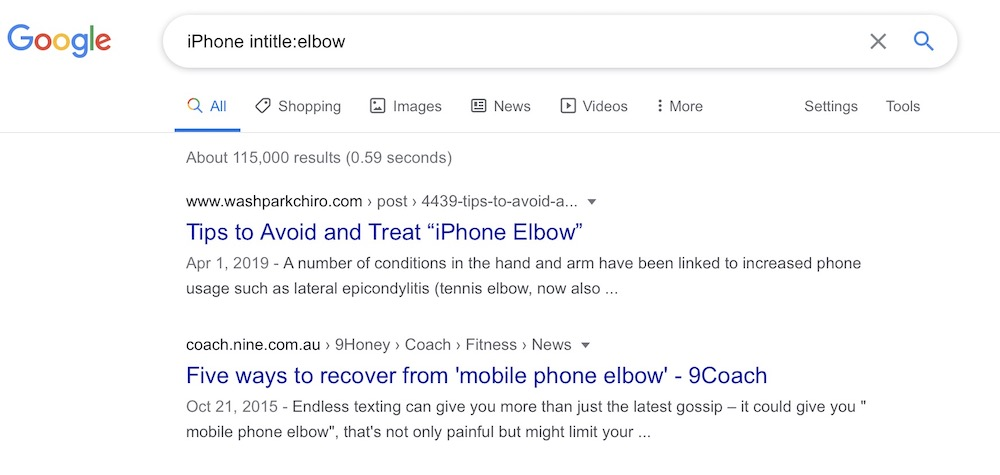 iPhone Elbow