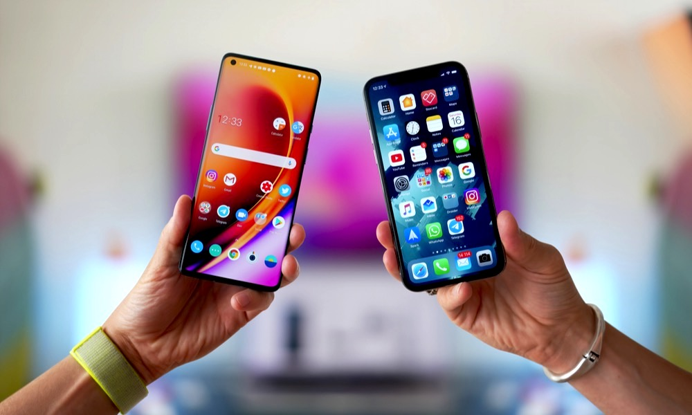 Android Smartphone with iPhone
