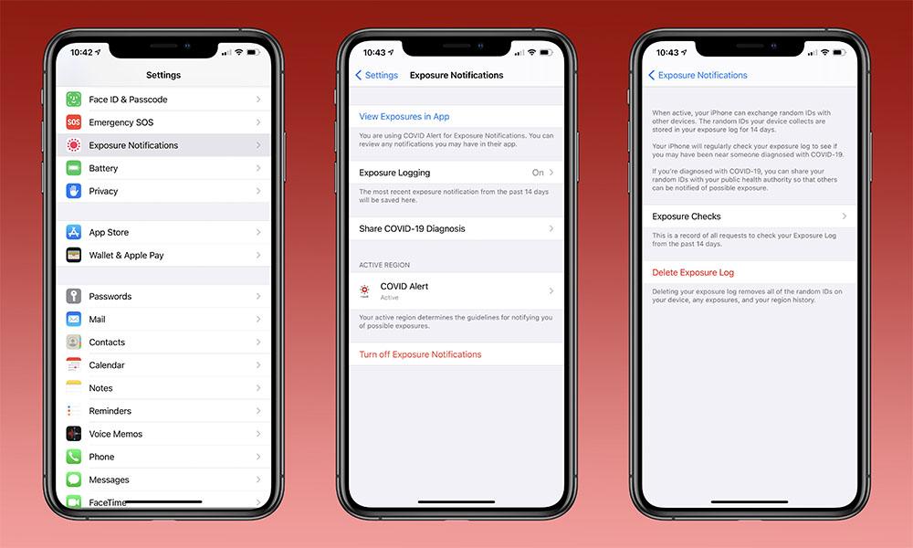 iOS 14 Beta COVID Exposure Notification API