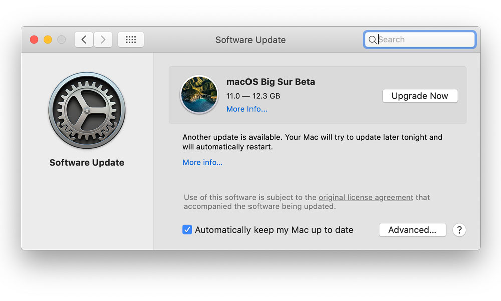 macOS Big Sur Beta Software Update
