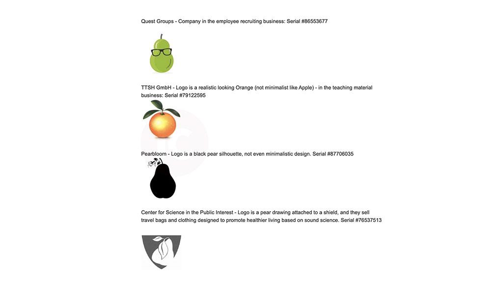 Apple disputed logos