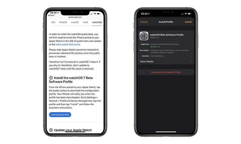 watchOS 7 Public Beta Install