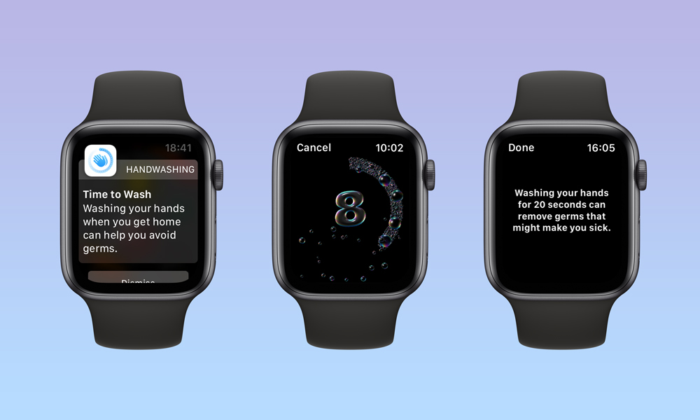 watchOS7 Handwashing