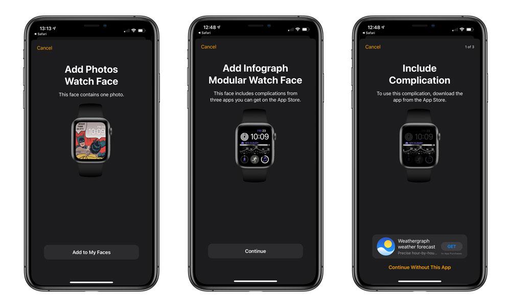 iOS 14 Add Watch Face