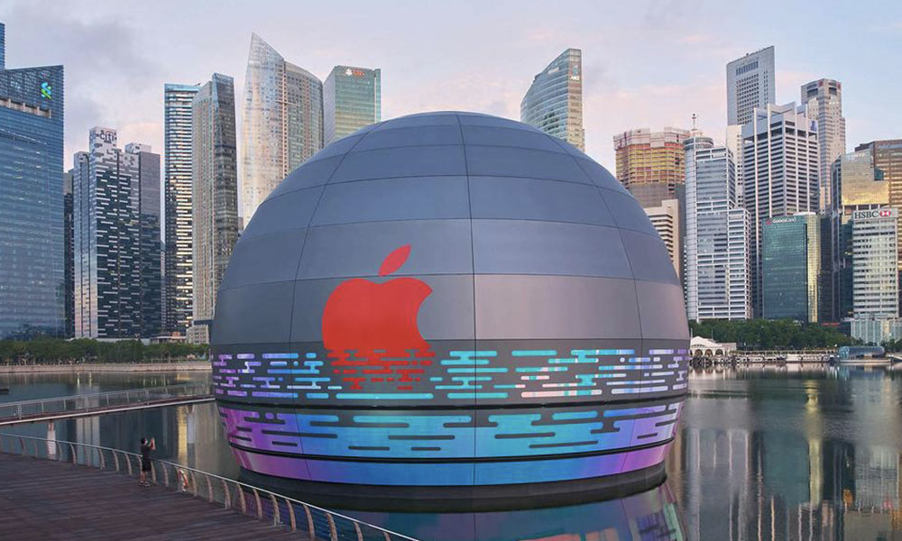 Apple Store Marina Bay Sands by day