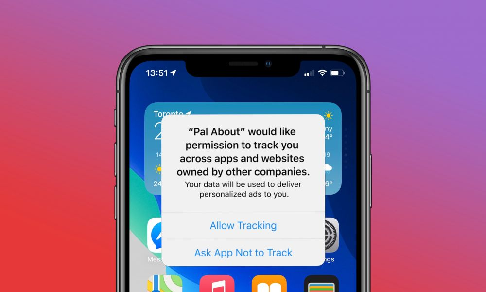 iOS 14 Ad Tracking Prompt