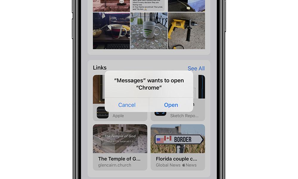 iOS 14 Default Browser open permision request