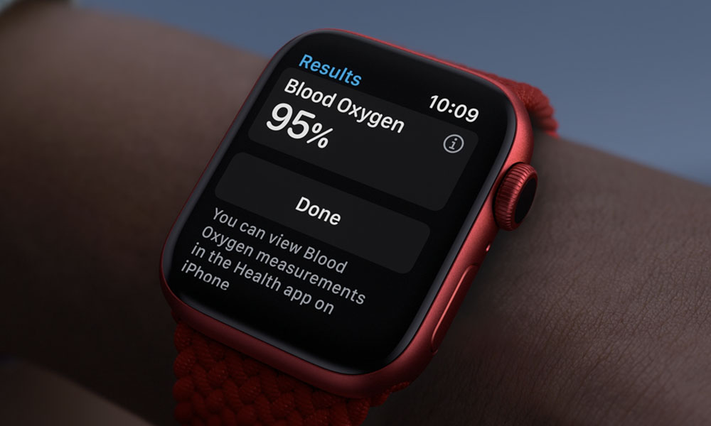 Apple Watch S6 Blood Oxygen Sensor