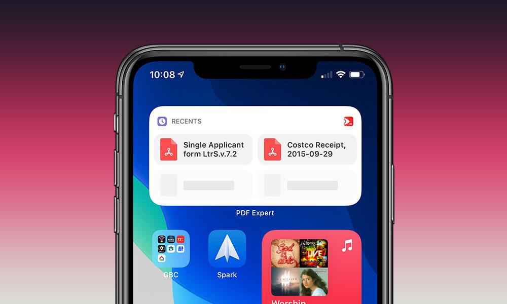 PDF Expert iOS 14 Widgets