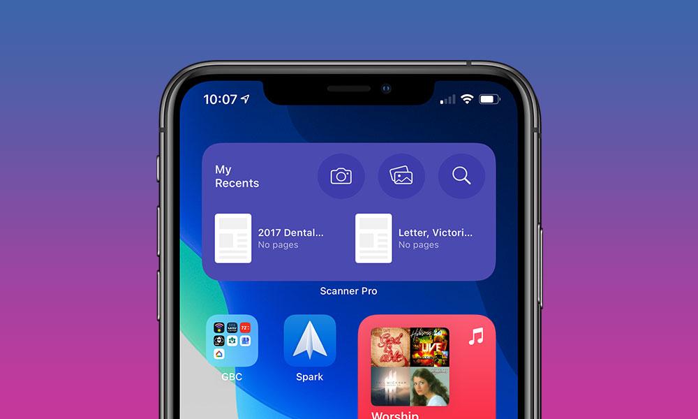 Scanner Pro iOS 14 Widgets