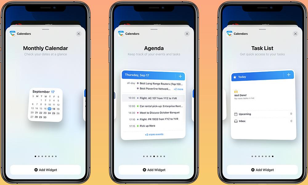 Calendars iOS 14 Widgets