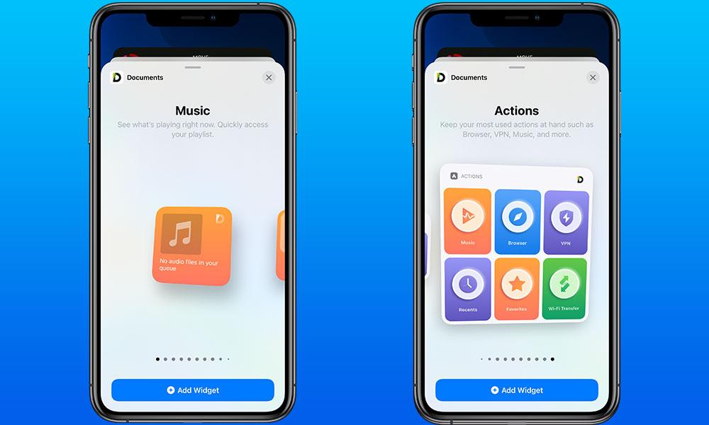 Documents iOS 14 Widgets