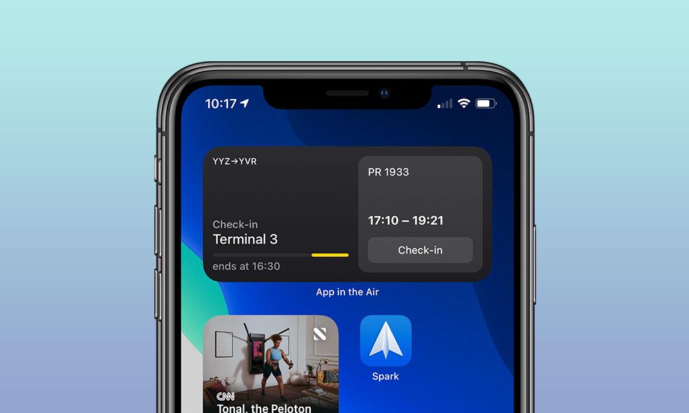 App in the Air iOS 14 Widgets