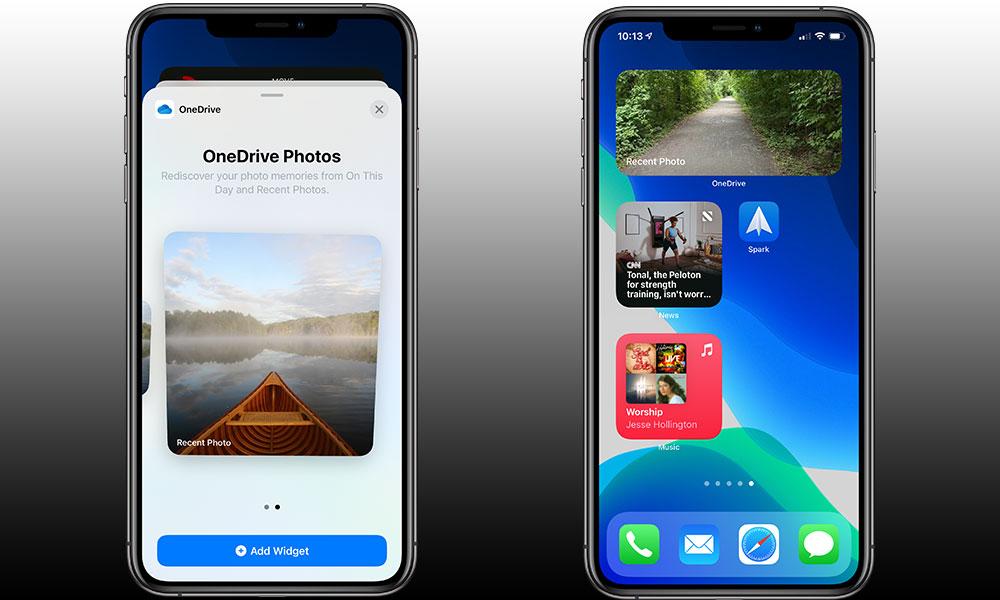 OneDrive iOS 14 Widgets