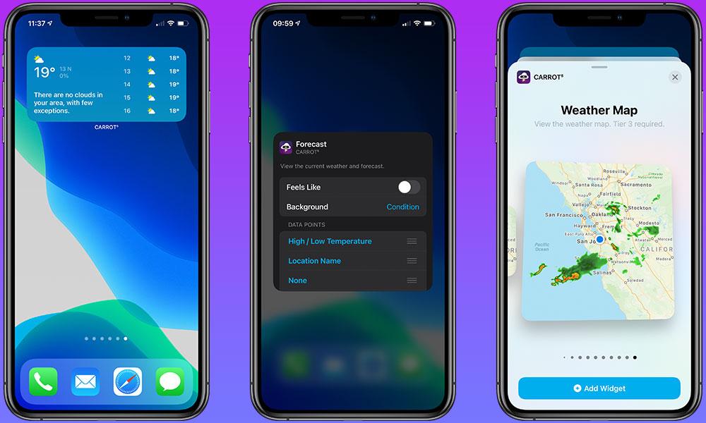 Carrot Weather iOS 14 Widgets