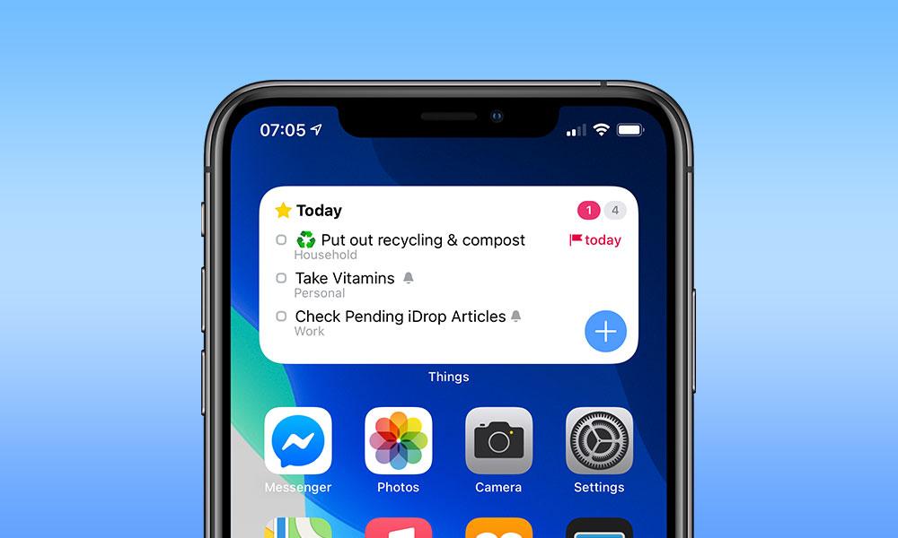 Things iOS 14 Widgets