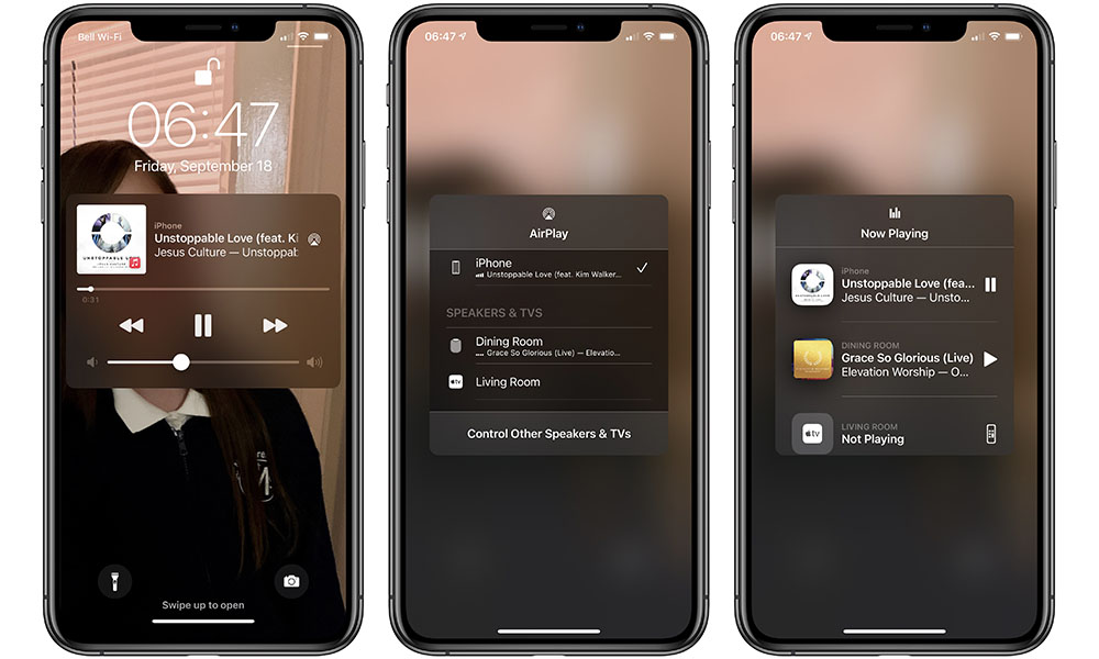 iOS 14.2 Music Controls